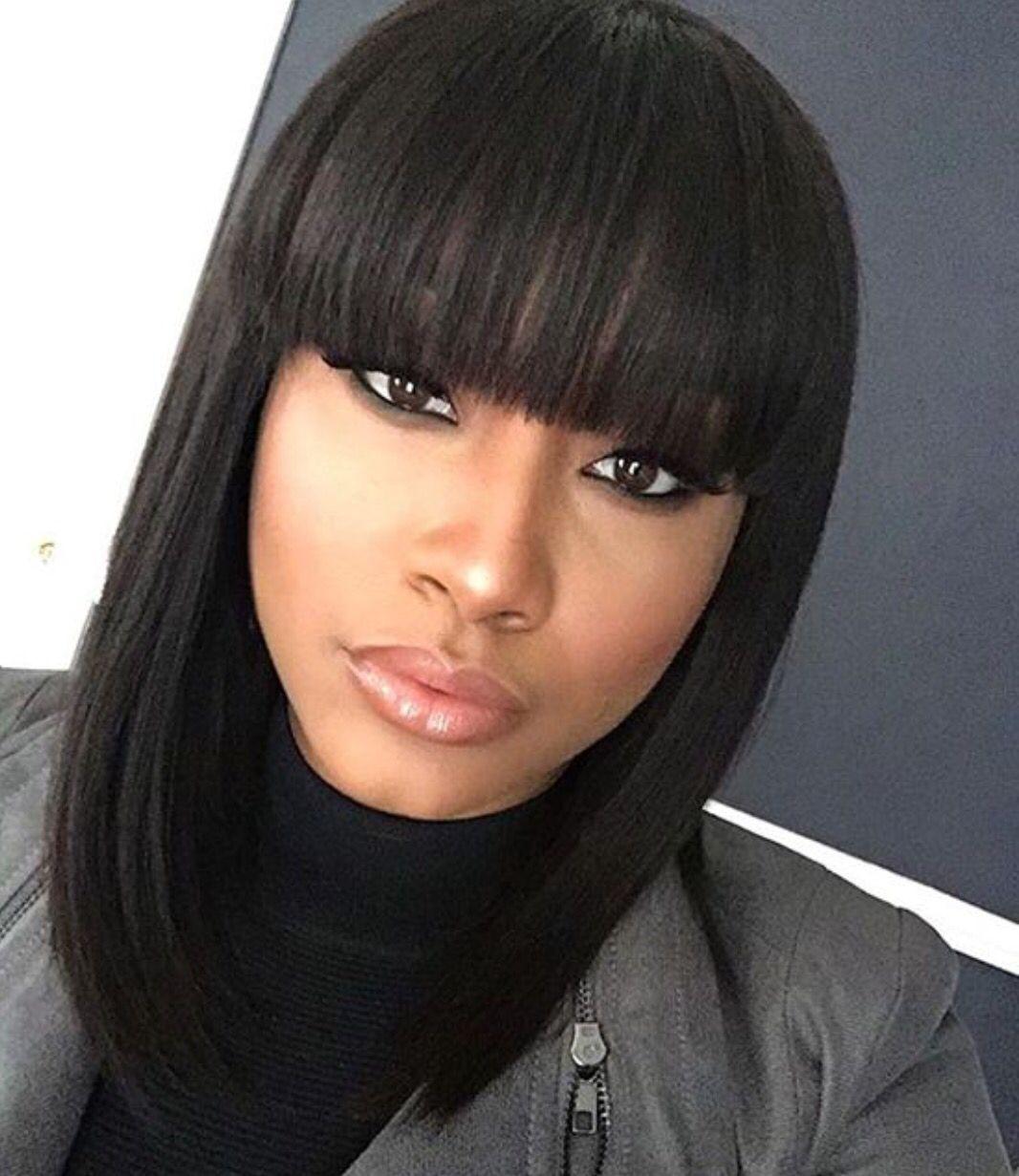 40+ Coiffure frange femme noire inspiration