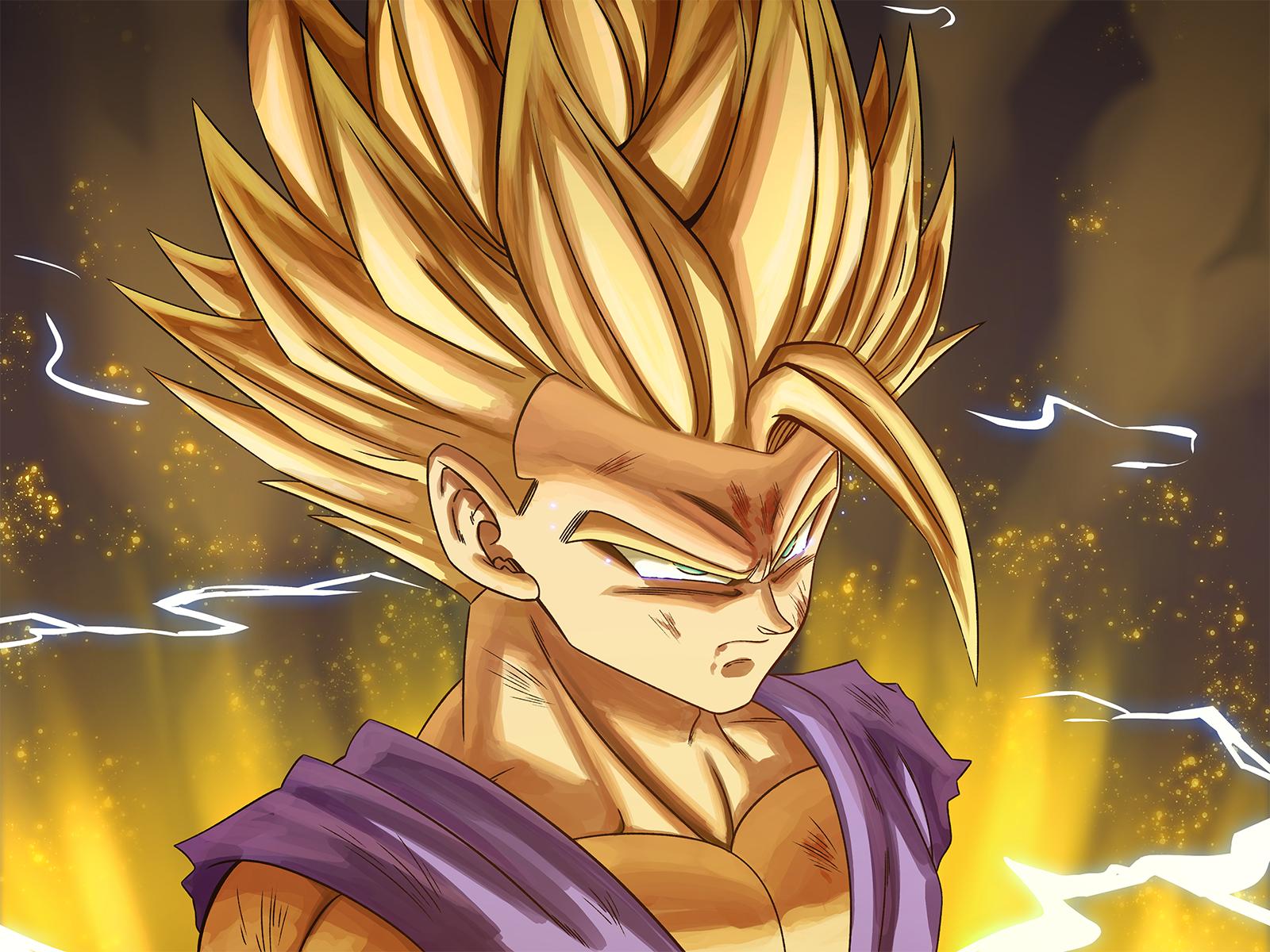 Kid Gohan Ssj2 Oc Dbz Anime Dragon Ball Super Dragon Ball Image Dragon Ball Art