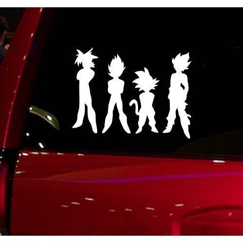 Dragon ball z dbz goku vegeta anime decal sticker for car