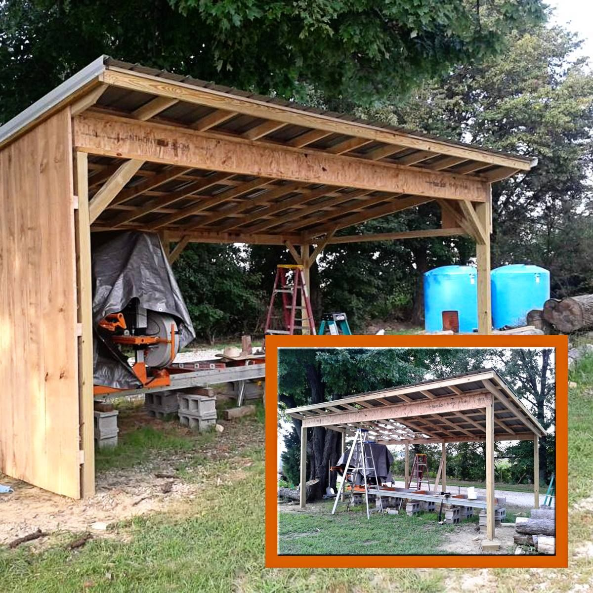 Shelter Building Wood Shed : Sawmill shelter diy woodworking pinterest shelters