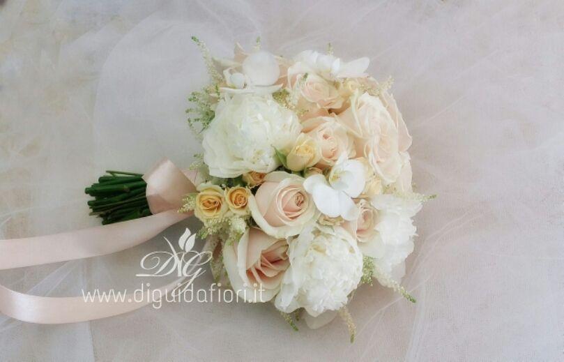 Bouquet Da Sposa Bianco.Bouquet Da Sposa Bianco E Rosa Antico 8211 Accessori Eleganti
