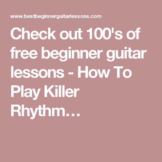 how to play rhythm guitar pdf