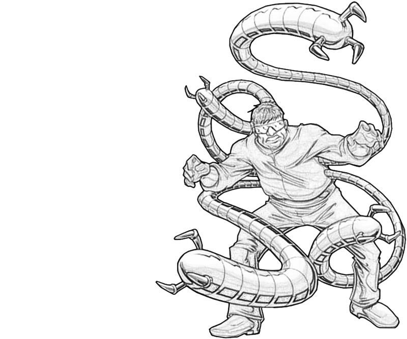 Dr Octopus Coloring Pages Octopus Coloring Page Marvel Coloring Octopus Colors