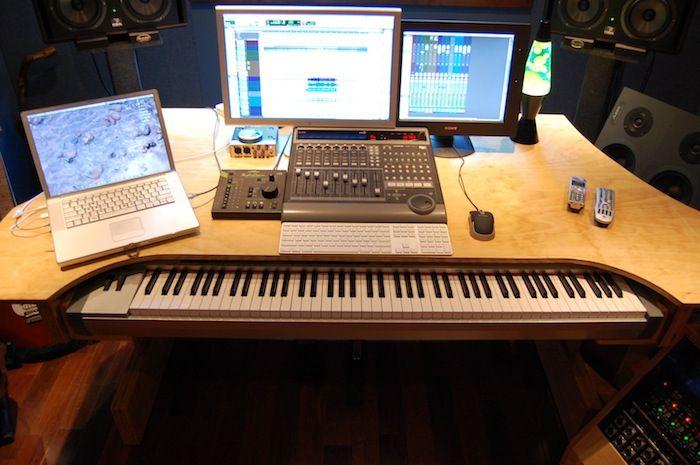 daw desk project studio recording studio home home studio music recording studio furniture. Black Bedroom Furniture Sets. Home Design Ideas