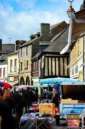 Market, Dol-de-Bretagne, Brittany, France