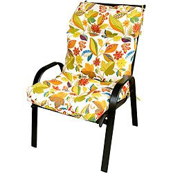 Patio High Back Fireworks Floral Chair Cushion | Overstock.com