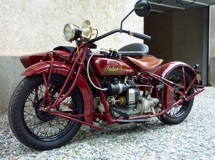29 Indian 4 W Princess Sidecar Restored By Jim Parker