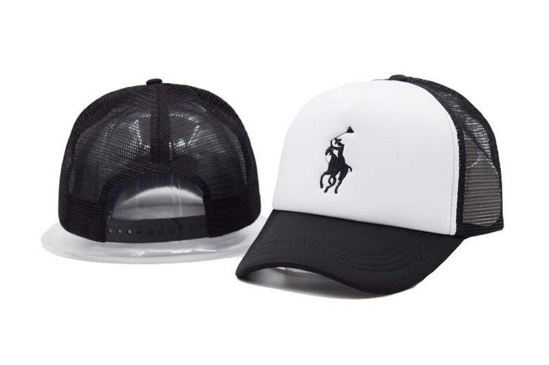 Men s   Women s Unisex Polo Ralph Lauren Pony Logo Embroidery Mesh Back  Baseball Adjustable Trucker Hat - White   Black fbd6ff2e62d