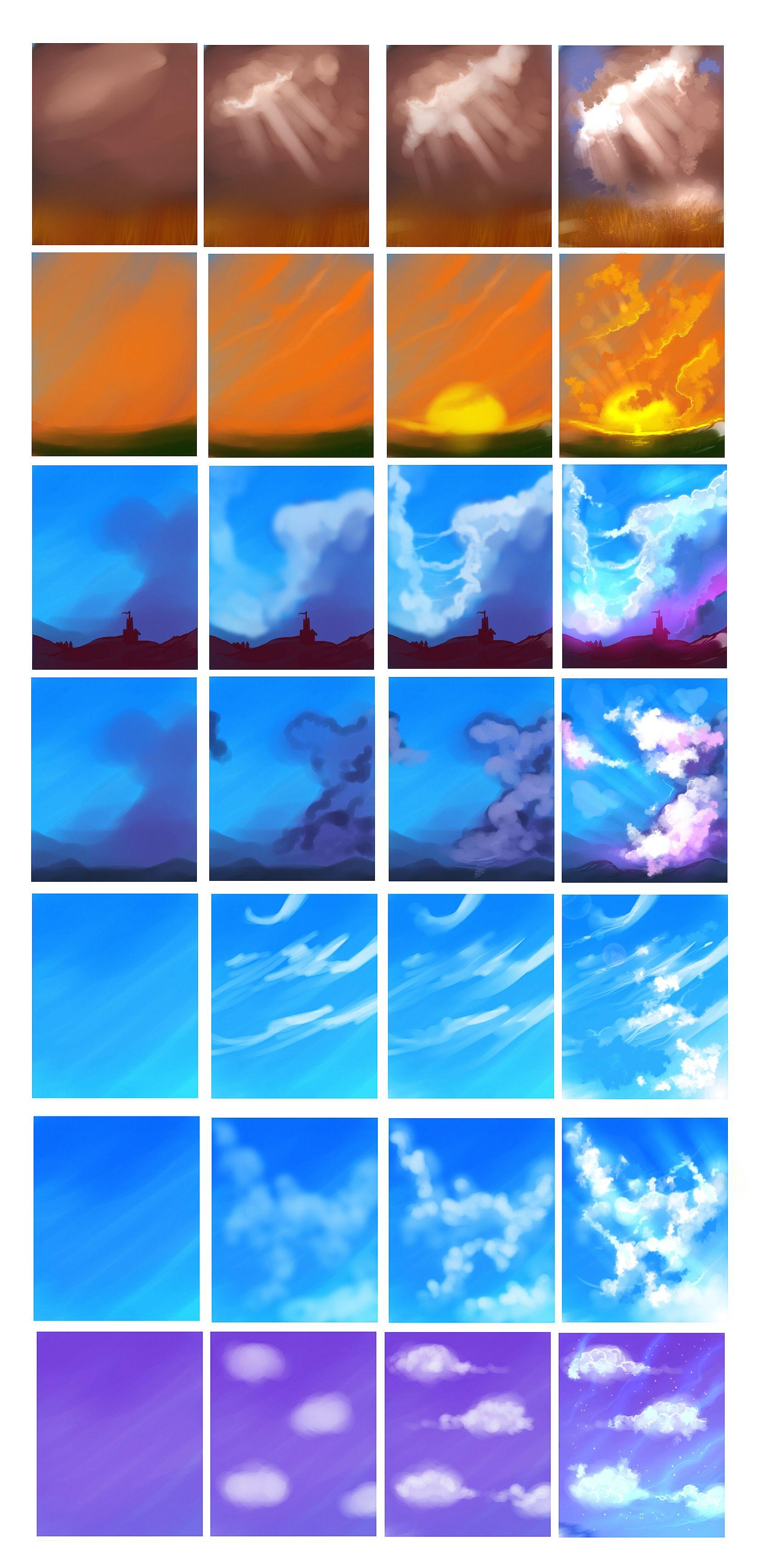Clouds tutorial by on deviantART