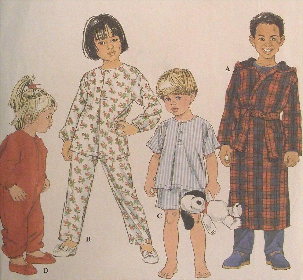 Baby Infant Toddler Pajamas Robe Sewing Pattern Size 1/2-1-2 ...