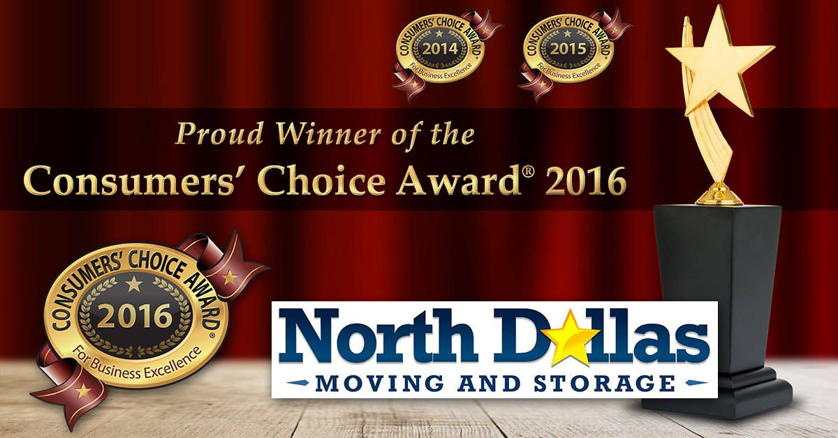 2016 Consumersu0027 Choice Award For Movers In Dallas Fort Worth Awarded To North  Dallas Moving And Storage (NDMS) Weu0027re Proud To Announce That For The 3rd  Year ...