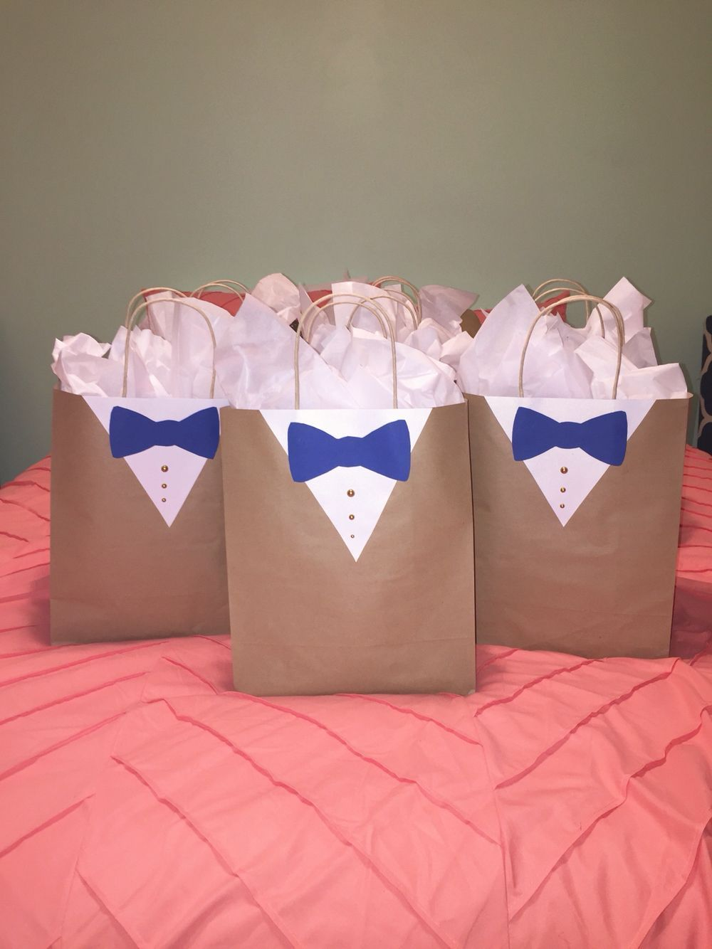 Groomsmen Gift Bag Wrapping Idea Decor Usher Gift Wedding Sui