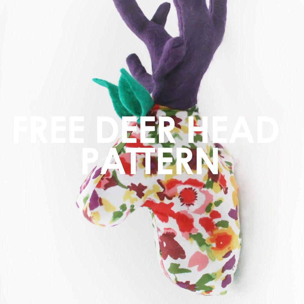 Deer Head Pattern (or Rudolph) | FREE sewing patterns | Pinterest ...