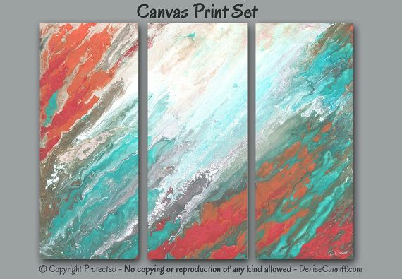 Large Pictures 3 Piece Wall Art Canvas Abstract Orange Teal Etsy In 2021 Canvas Art Wall Decor Canvas Art Prints Abstract Canvas Painting