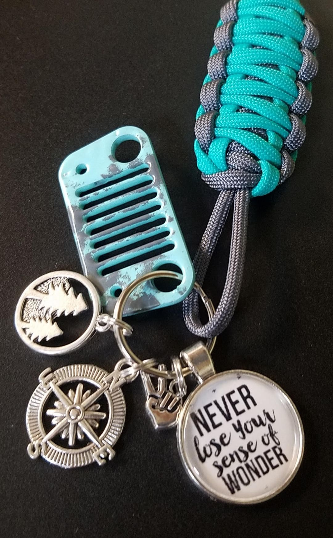 Never Lose Your Sense Of Wonder Jeep Grill Key Fob In 2020 With Images Jeep Grill Jeep Keychain Jeep Keys