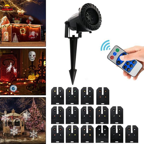 15 Patterns 6W LED Remote Control Projector Stage Light Outdoor