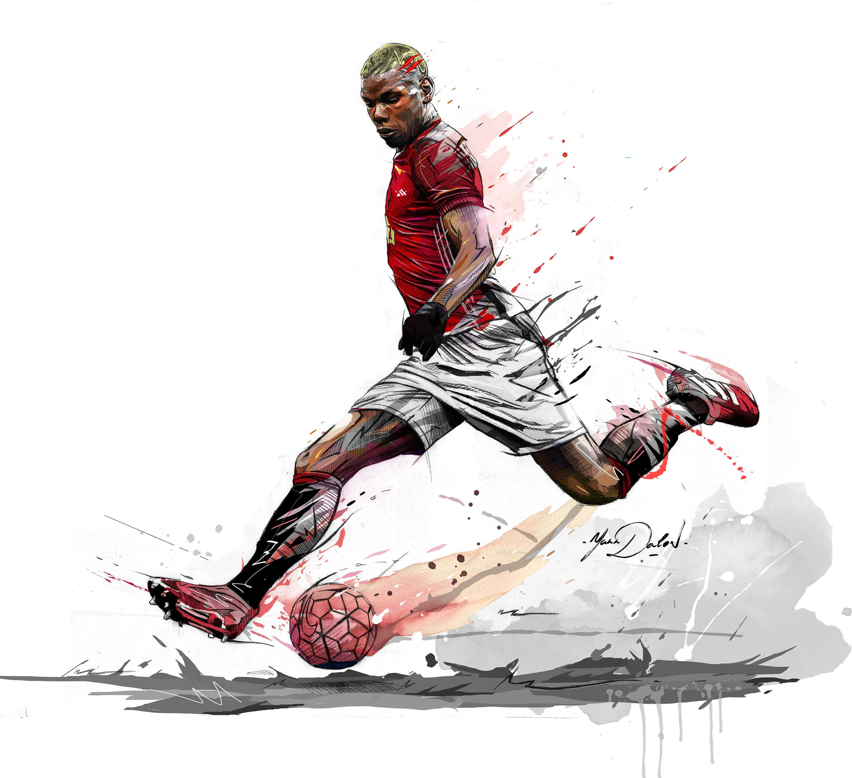 My Painting Of Paul Pogba Welcome To Manchester Soccer Art Football Art Mufc