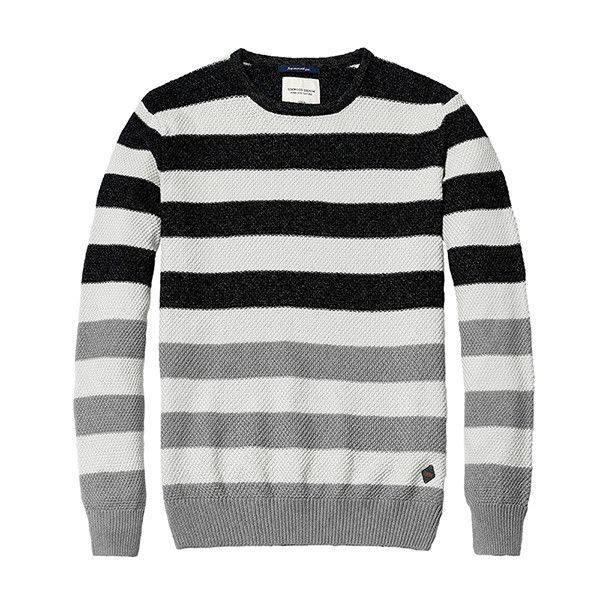 simwood brand clothing fashion sweater men striped pullovers 100 cotton contrast color christmas sweater