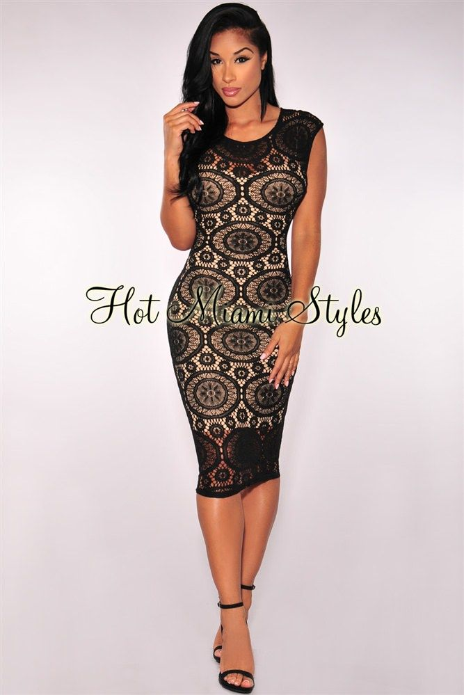 22a48d6d0d51 Black Optical Net Nude Illusion Padded Dress Womens clothing clothes hot  miami styles hotmiamistyles hotmiamistyles.com sexy club wear evening  clubwear ...