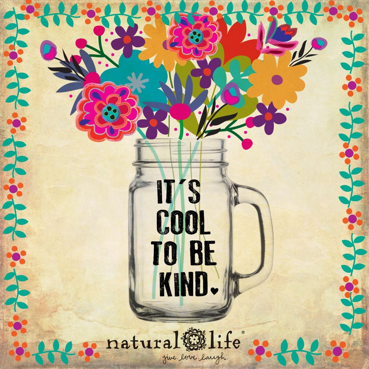 Inspirational Products Boho Decorations Natural Life Quotes Kindness Quotes Think Happy Thoughts