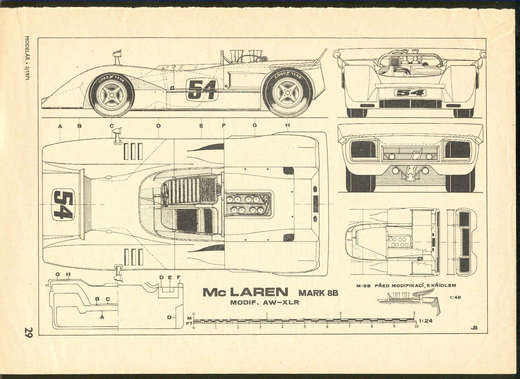 Mclaren Mk 8b Mclaren Mclaren P1 Blueprints