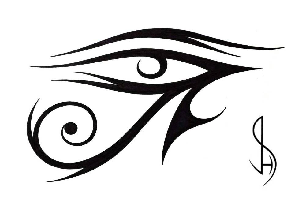 Eye Of Ra Tribal Tattoo Design By Jsharts Deviantart Com On Deviantart Tribal Tattoos Tribal Tattoo Designs Egyptian Tattoo
