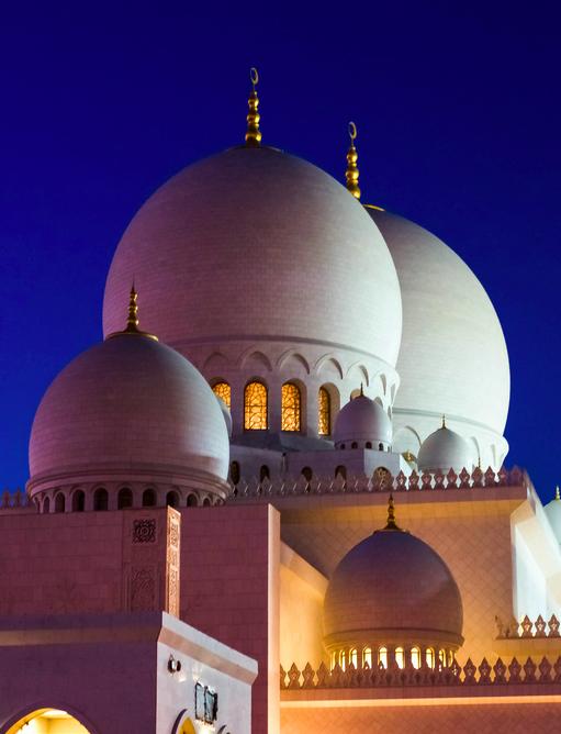 Exterior: Sheikh Zayed Mosque, Abu Dhabi. جامع الشيخ زايد
