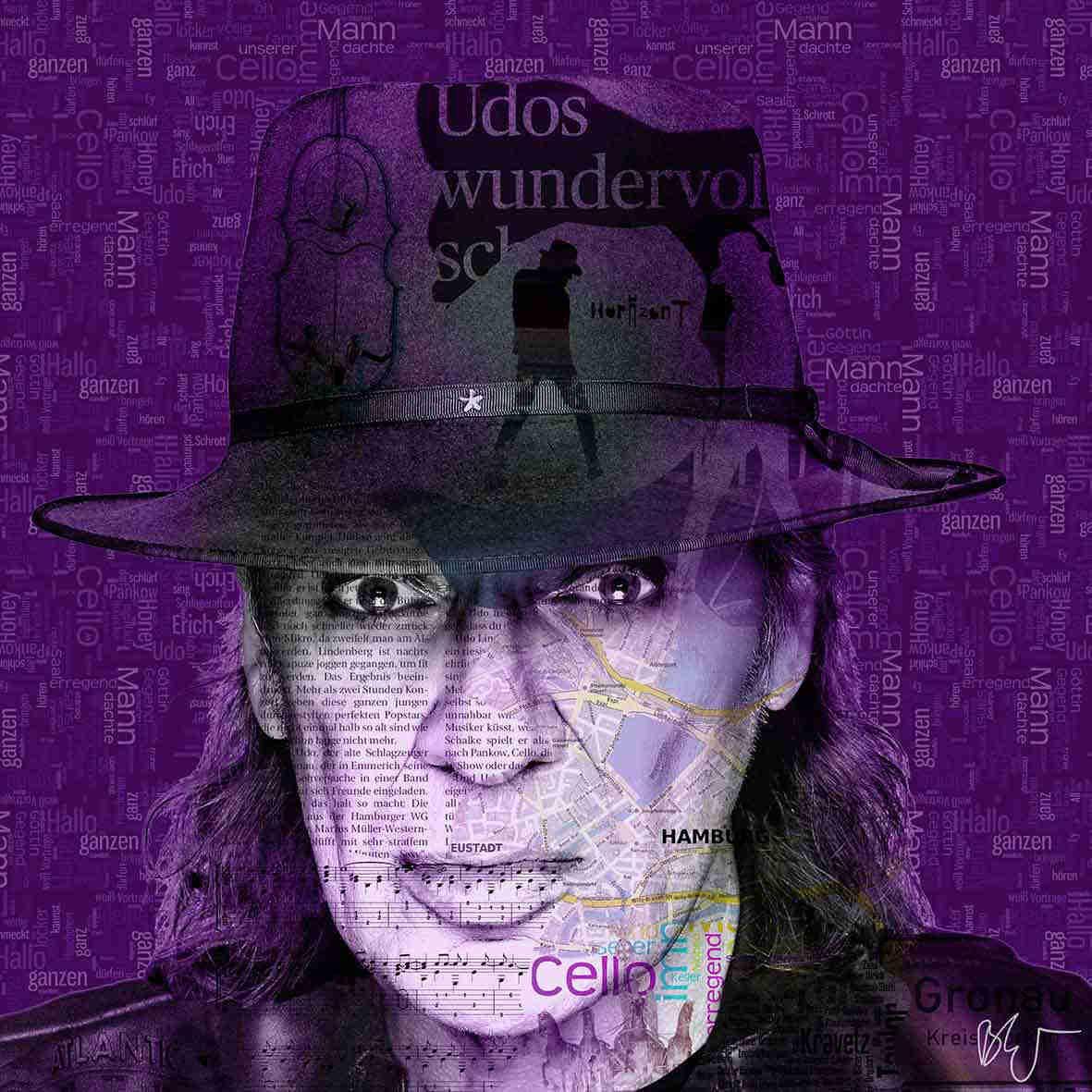 Udo Lindenberg auf einem Wandbild. das besondere Geschenk für Udo ...