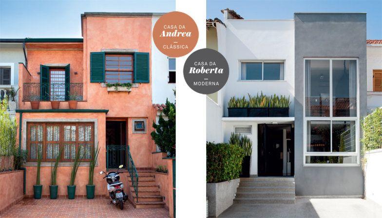 Duas casas parecidas passam por reforma uma vira cl ssica for Casa classica moderna