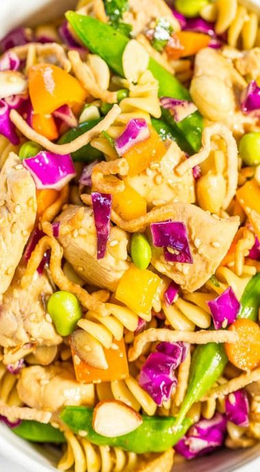chinese chicken pasta salad  recipe  recipes chicken