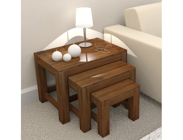 Kingston Walnut Nest of Three Tables