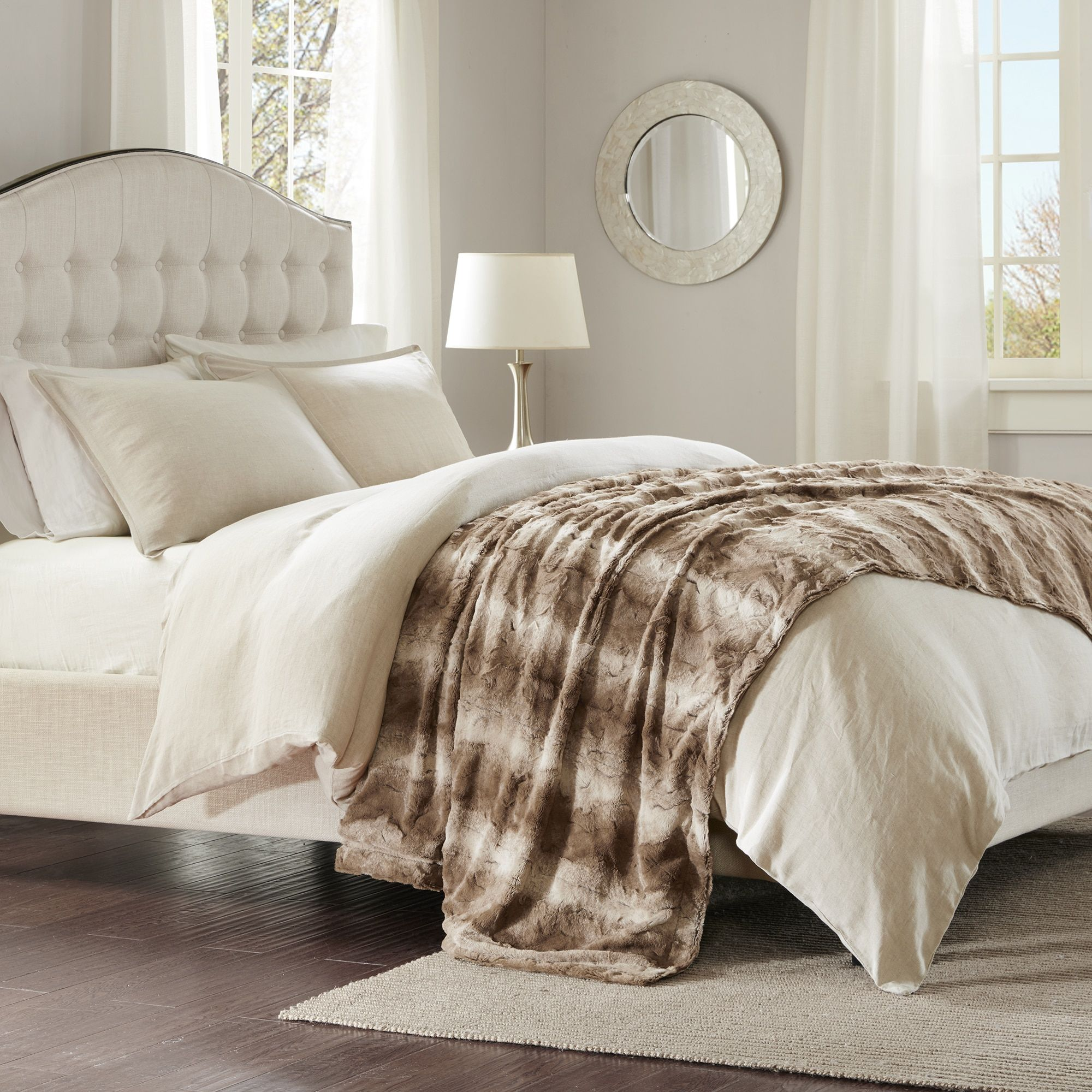 park grey comforter pin madison fur duke set faux beige and