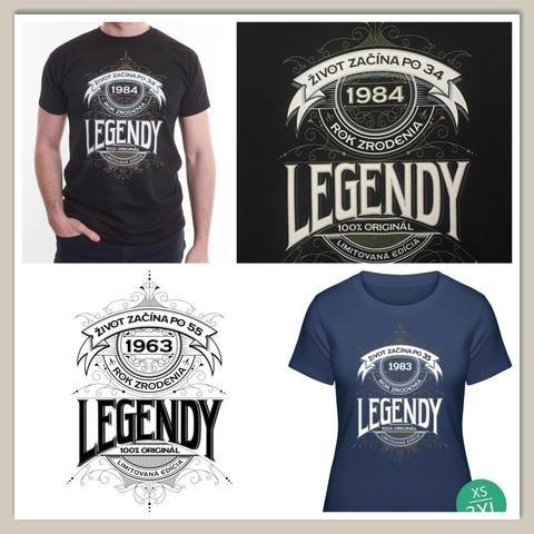 5c2aa95c7768 Motív k 30. narodeninám - tričko LEGENDY