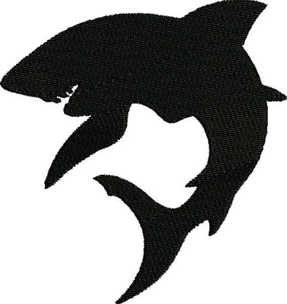 12 Shark Silhouette Digital Clipart Images, Clipart Design Elements ...