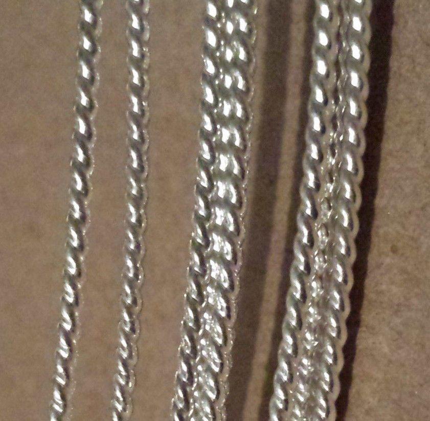 SOLID 925 Sterling Silver Twist Pattern Wire 6in-10ft Gauge 10 thru ...