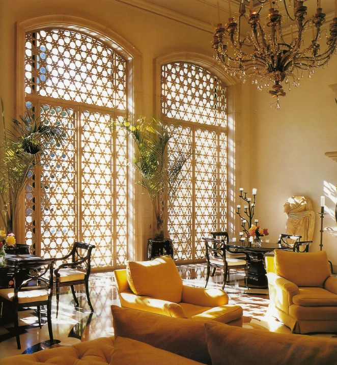 Love The Moroccan Screens Michael Taylor Designer Moroccan Living Room Moroccan Decor Living Room Moroccan Inspired Living
