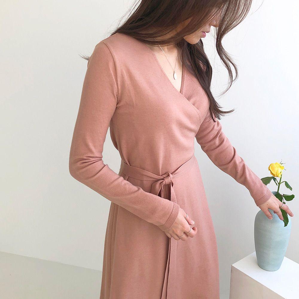 amberlpreston -   14 wrap dress Korean ideas