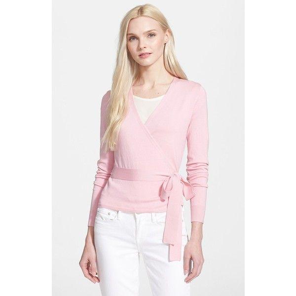 Diane von Furstenberg 'Ballerina' Wrap Sweater (975 QAR) ❤ liked ...