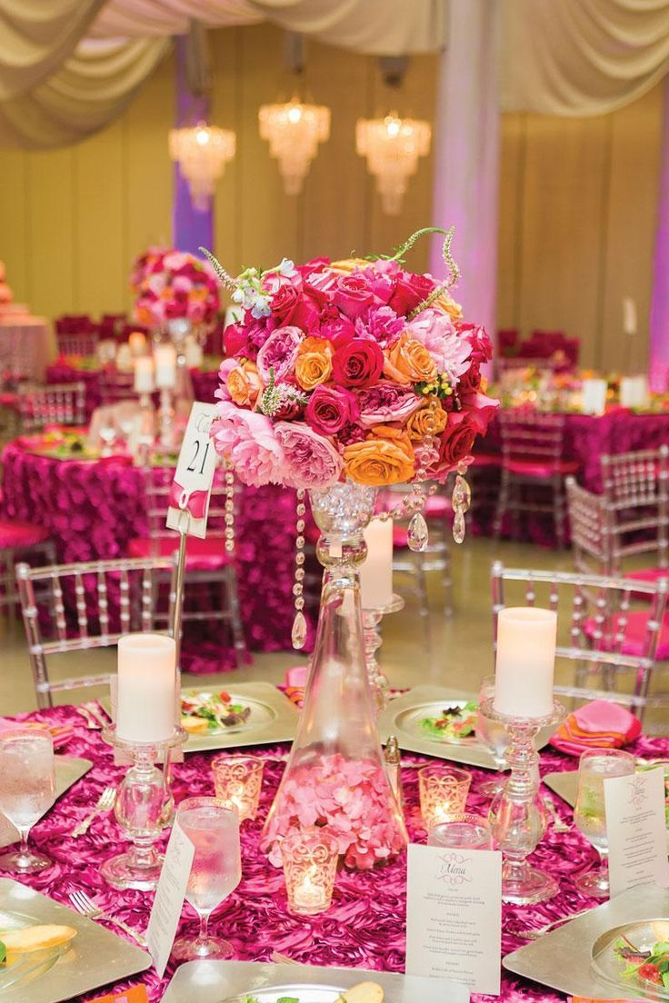 Romantic Timeless Floral Wedding Centerpieces | Pinterest | Pink ...