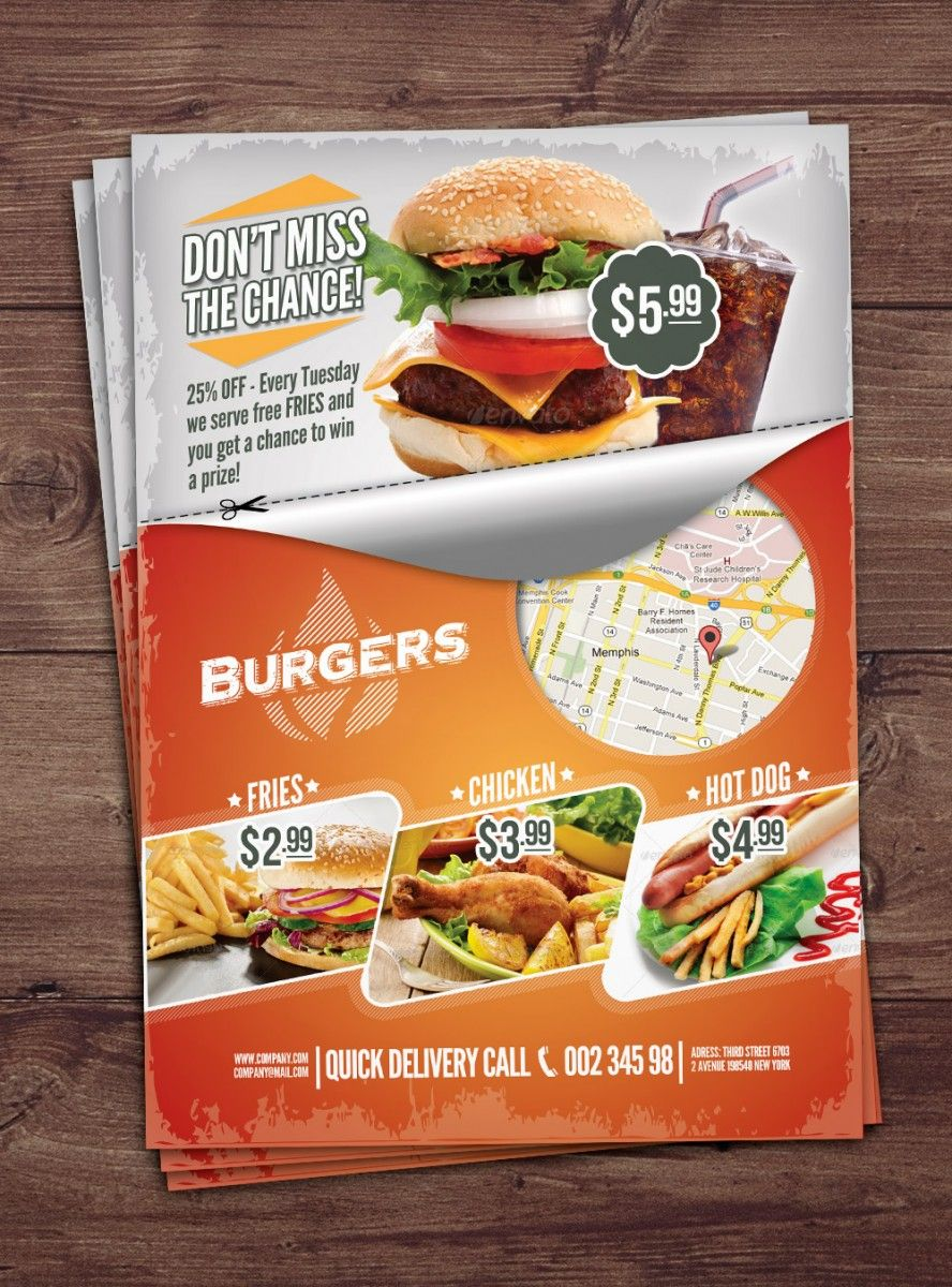 free fast food flyer download free psd flyer template free psd