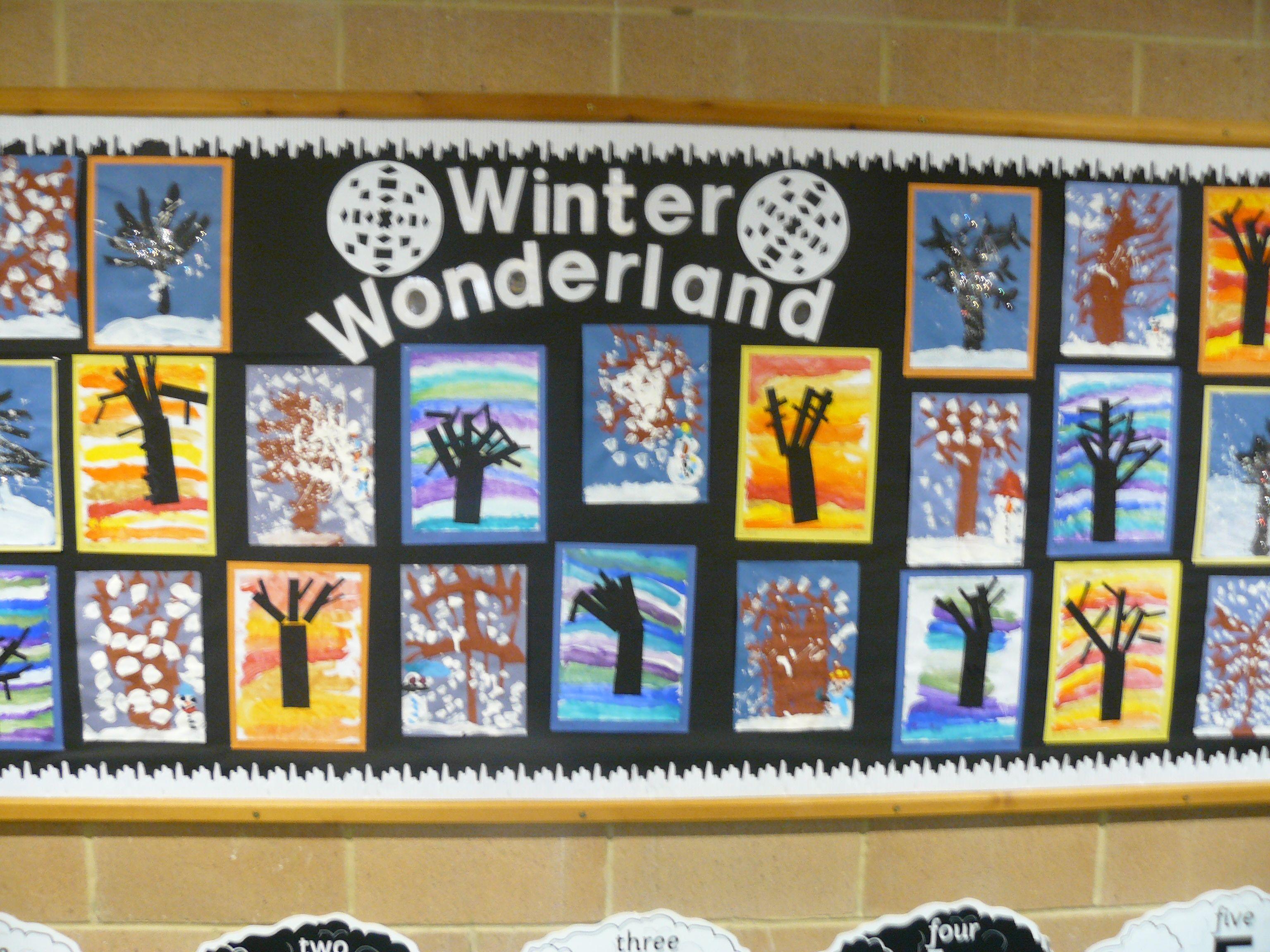 winter trees reception class class display pinterest
