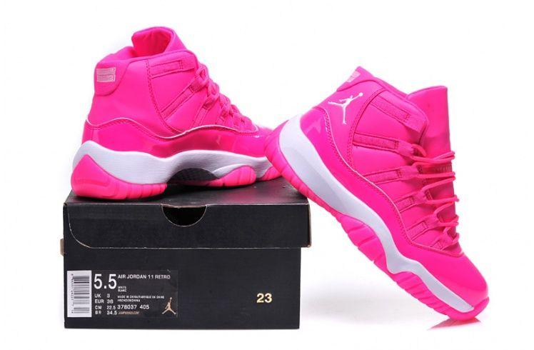 air jordans 11 pink and white