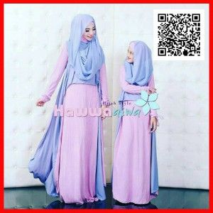image about I Mom titled gamis handful of syari mother little one hawwa aiwa MTFM18 2 baju gamis