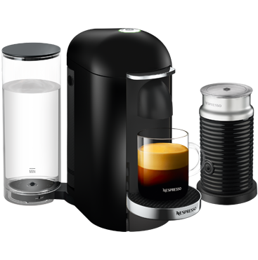 VertuoPlus D Black & Aeroccino Coffee Machine Vertuo