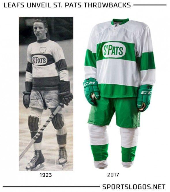 Toronto St Pats Throwback Uniform Compare  fbd7e1a29