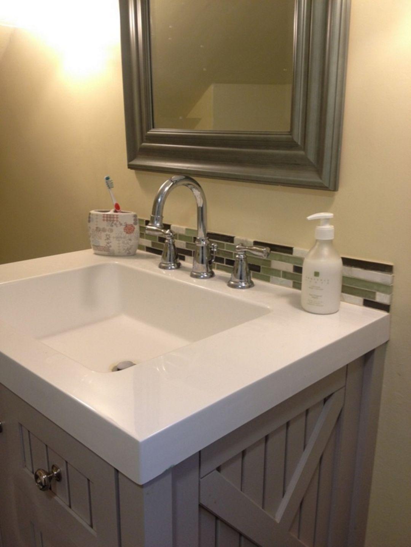 30 Back Splash Bathroom Ideas For Inspiration Bathroom Backsplash Glass Tile Backsplash Bathroom Glass Tile Bathroom New bathroom backsplash ideas home