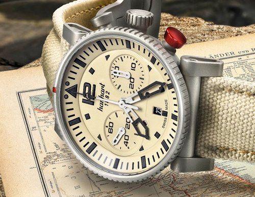 Hanhart - PRIMUS Desert Pilot #hanhart German Swiss Watchmakers  #horlogerie #chrono @calibrelondon