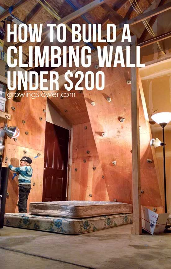 How to build the ultimate home climbing wall under 200 for Ways to save money building a house