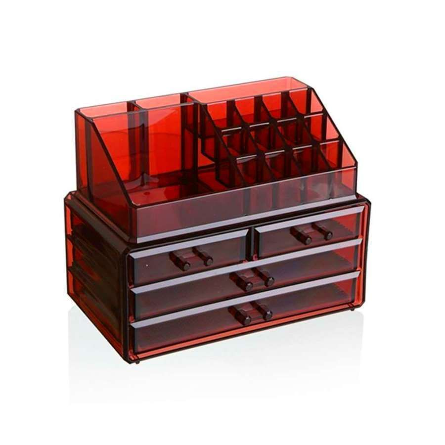 Makeup Cosmetics Jewelry Organizer Acrylic 3 Drawers Display Box