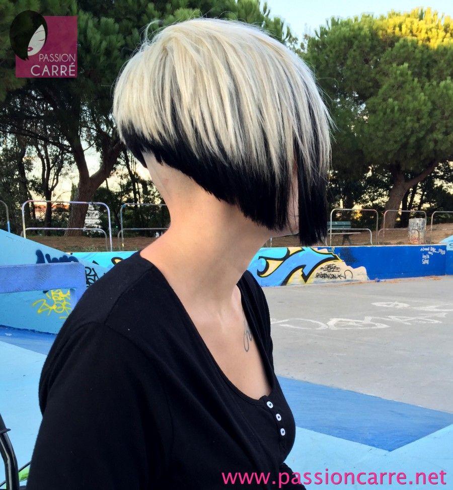 Elodie - Carré plongeant asymetrique sidecut bicolore (7) asymetrical extrem bob haircut | Bobs ...